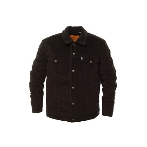 Manžestrová bunda Levi´s® Sherpa Trucker pánská černá