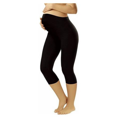 Těhotenské legíny Leggins short black - ITALIAN FASHION