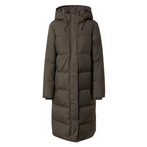 VERO MODA Zimní kabát 'ERICA HOLLY' tmavě zelená