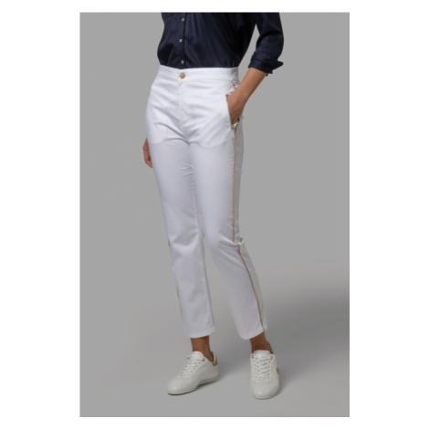 Kalhoty La Martina Woman Trousers Stretch Satin - Bílá