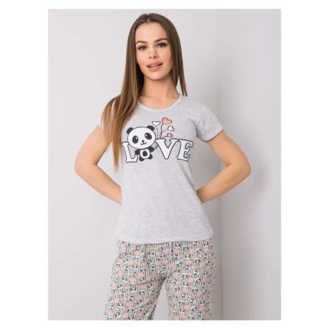 Dámské šedé bavlněné pyžamo FPrice