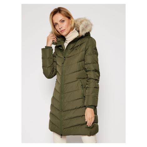 Calvin Klein dámská khaki zelená bunda