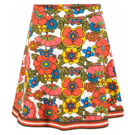 Udržitelná bavlněná zvonová sukně Blutsgeschwister vzor květiny