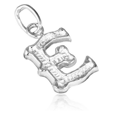 Stříbrný přívěsek 925 - vyřezávané písmeno E Šperky eshop
