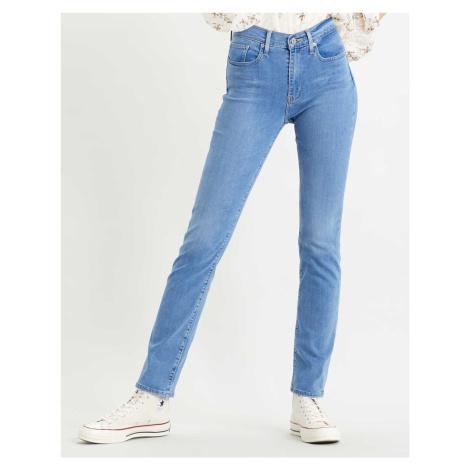 Levi´s® jeans 724 High Rise Straight Rio Chill dámské modré