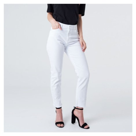 Bílé džíny s vysokým pasem NA-KD