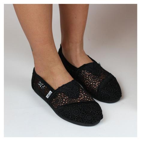 Marrocan Crochet Alpargatas: černá Toms