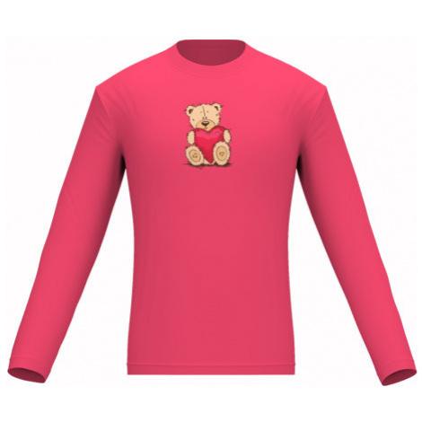 Pánské tričko dlouhý rukáv Medvídek srdce