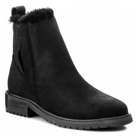 Kotníková obuv s elastickým prvkem EMU AUSTRALIA - Pioneer Leather W11692 Black