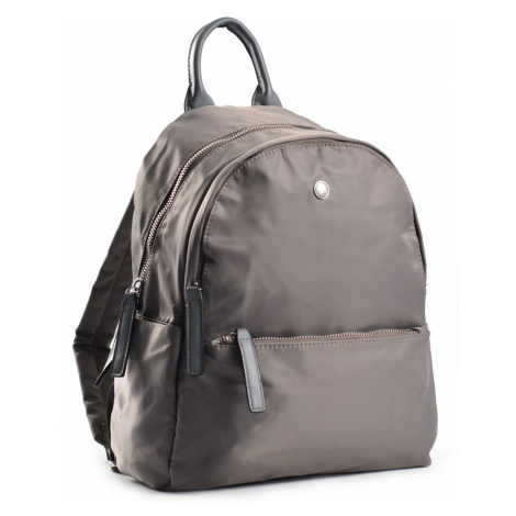 Bright Elegantní dámský batoh větší A5 vybavený šedý, 26 x 12 x 31 (BR18-W117-1618-08TX)