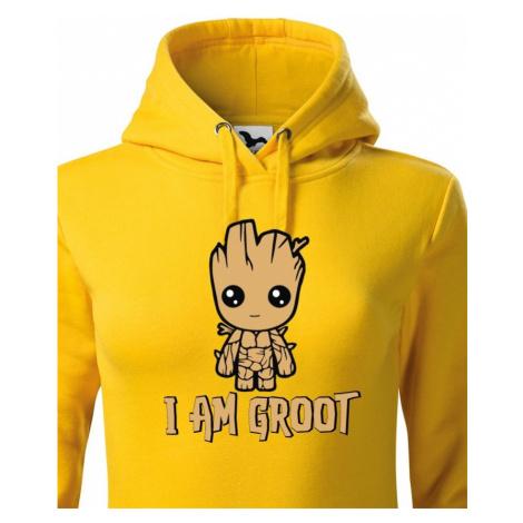 Dámská mikina Groot z filmu Strážci galaxie - Já jsem Groot na mikině BezvaTriko