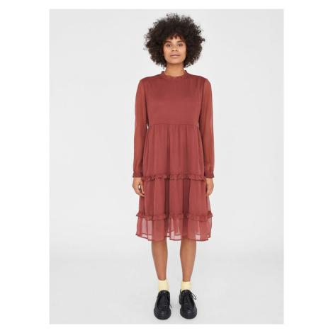 Noisy May hnědé šaty Ena