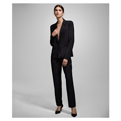 Blejzr Karl Lagerfeld Karl X Carine Wool Blazer - Černá