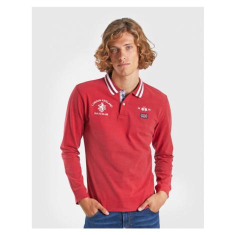 Polokošile La Martina Man Polo L/S Heavy Jersey - Červená