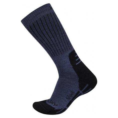 Husky All Wool modrá, Ponožky