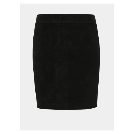 Noisy May černá semišová pouzdrová sukně Wren