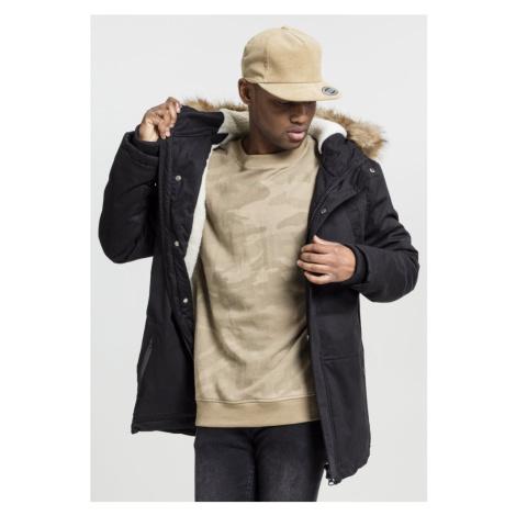 Heavy Cotton Imitation Fur Parka - black Urban Classics
