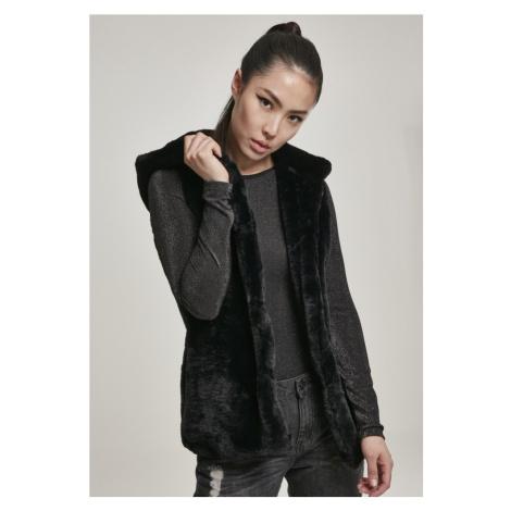 Ladies Hooded Faux Fur Vest Urban Classics