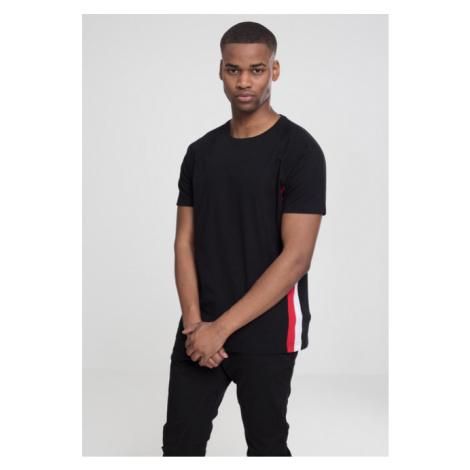 Urban Classics Raglan Side Stripe Tee black/fire red/white