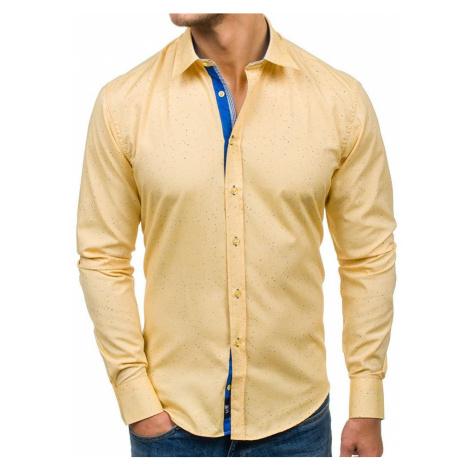 Pánská košile BOLF 6887 žlutá