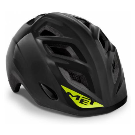Juniorská cyklistická helma MET Genio černá lesklá