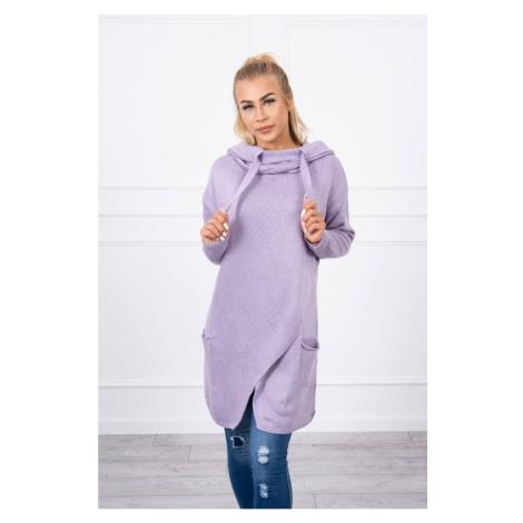 Sweater with envelope bottom light purple