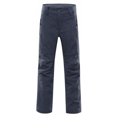 ALPINE PRO PLATAN 4 Dětské softshellové kalhoty KPAR158669 indigo blue