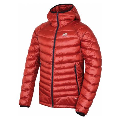 HANNAH DOLPH Pánská ultralehká zimní bunda 10005237HHX01 orange stripe