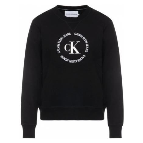 Calvin Klein Calvin Klein dámská černá mikina s logem CK ROUND LOGO RELAXED CN