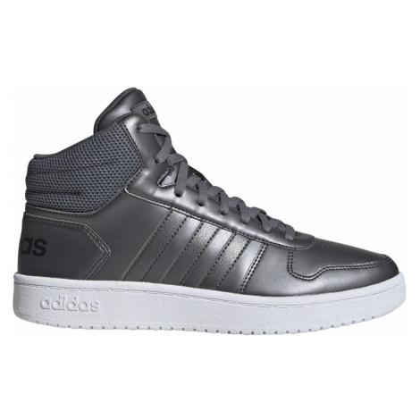 Dámská obuv adidas HOOPS 2.0. MID Šedá / Bílá