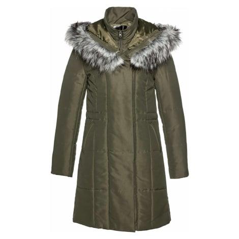 Kabát s umělou kožešinou Bonprix