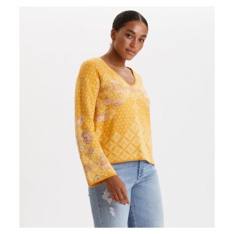 Svetr Odd Molly Entanglement Sweater - Žlutá