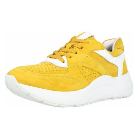 CAPRICE Tenisky 'CAPRICE' žlutá / bílá