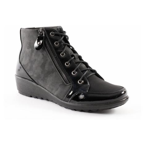 Blancheporte Pohodlná obuv na klínku, ze 2 materiálů a se zipem černá