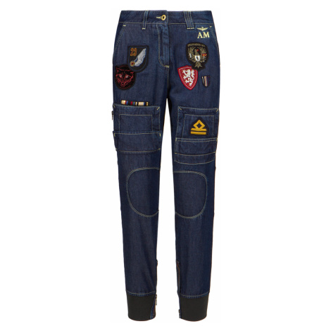 Kapsáčové kalhoty AERONAUTICA MILITARE tmavomodrá