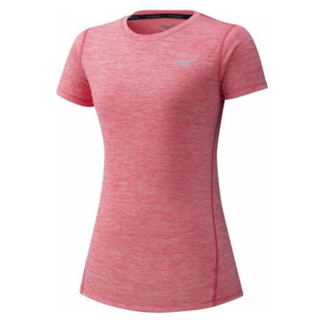 Mizuno IMPULSE CORE TEE W růžová - Dámské běžecké triko