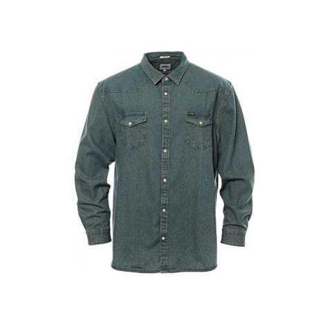Džínová košile Wrangler Wester pánská modrá