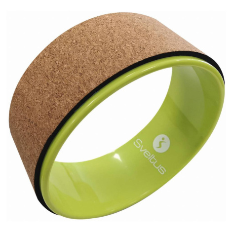 Sveltus Cork yoga wheel - anis green Hnědá