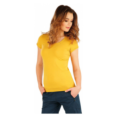 Dámské tričko s krátkým rukávem Litex 5A354 | hořčicová