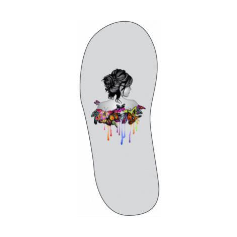 Sandály-žabky Dívka s motýly