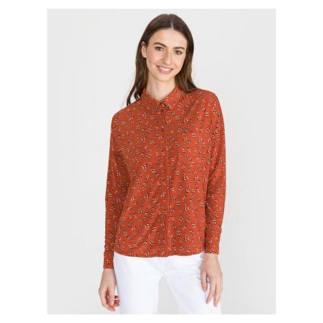 Toka Košile Vero Moda Oranžová