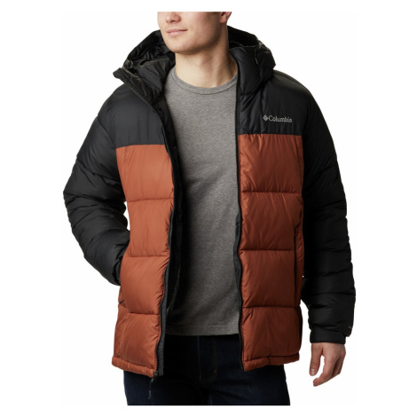 Bunda Columbia Pike Lake™ Hooded Jacket M - hnědá/černá