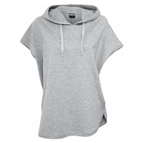 Urban Classics Ladies Sleeveless Terry Hoody Dámské tričko s kapucí šedá