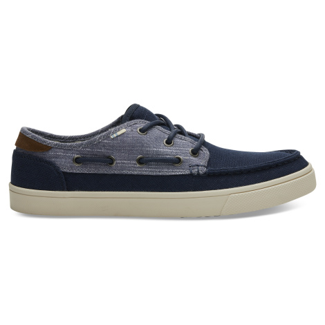 Navy Heritage Canvas Rugged Chambray Mix Men Dorado Toms