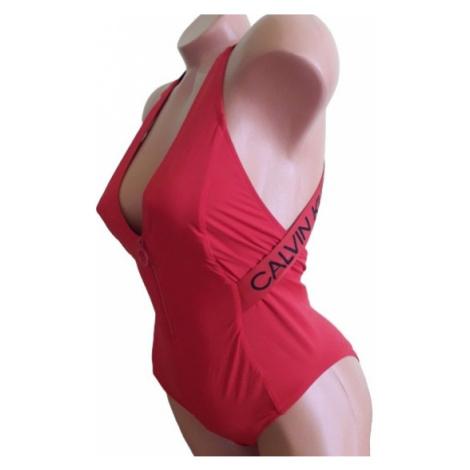 Dámské jednodílné plavky Calvin Klein KW01000 červená | červená