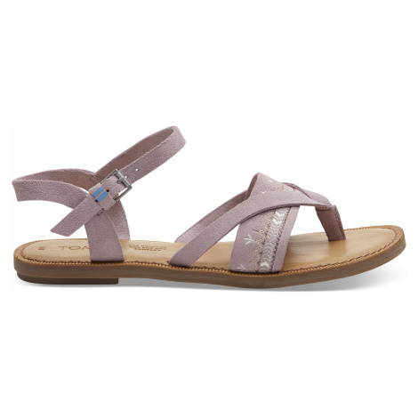 Burnished Lilac Sue/Embr Women Lexie Sand Toms