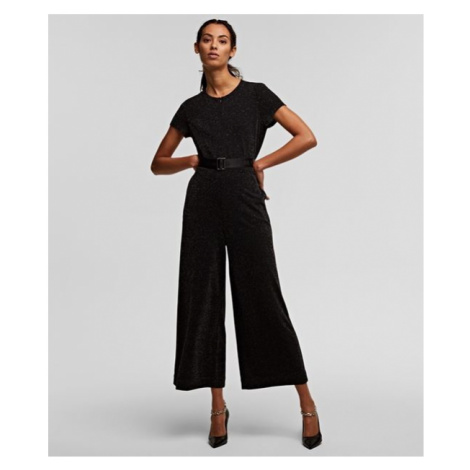 Overal Karl Lagerfeld Sparkle Jumpsuit - Černá