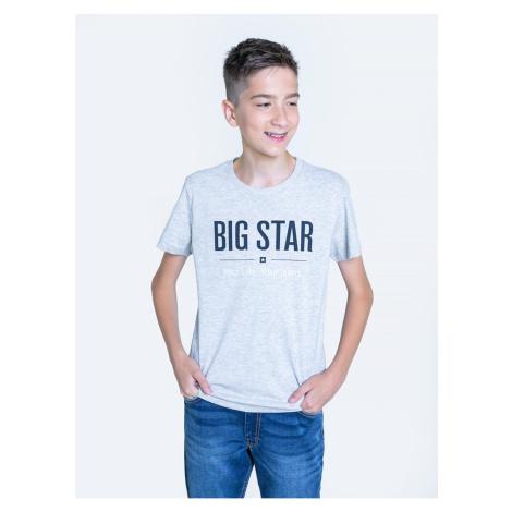 Big Star Man's T-shirt_ss T-shirt 152058 Black Knitted-901
