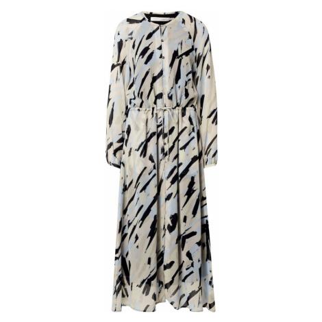 InWear Košilové šaty 'Judy' černá / světlemodrá / krémová