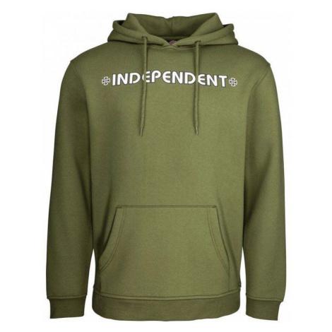 MIKINA INDEPENDENT Bar/Cross Hood - zelená